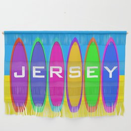 Jersey Surfboards on the Beach Wall Hanging
