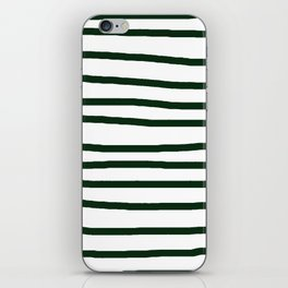 Simply Drawn Stripes in Pine Green iPhone Skin