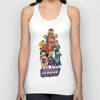 justice league Tank Tops featuring Justice League of Muppets by JoshEssel