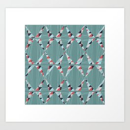 Modern Triangles  Art Print