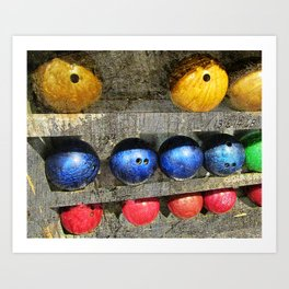 Bowling art vs 6 Art Print