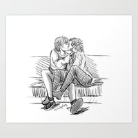 larry stylinson Art Prints featuring larry by otp-hedgefrog