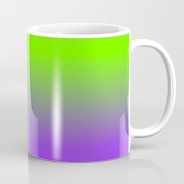Neon Purple and Neon Green Ombré  Shade Color Fade Coffee Mug