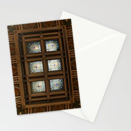 Stained glass on the ceiling Stationery Cards