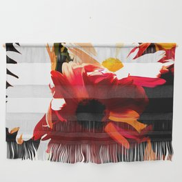 Daisies In Abstract Wall Hanging