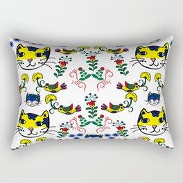 Folk Love Cat Rectangular Pillow