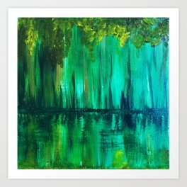 Green reflection Art Print