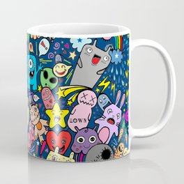 Doodle Monsters Party Night Coffee Mug
