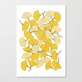 ginkgo leaves (yellow) Canvas Print