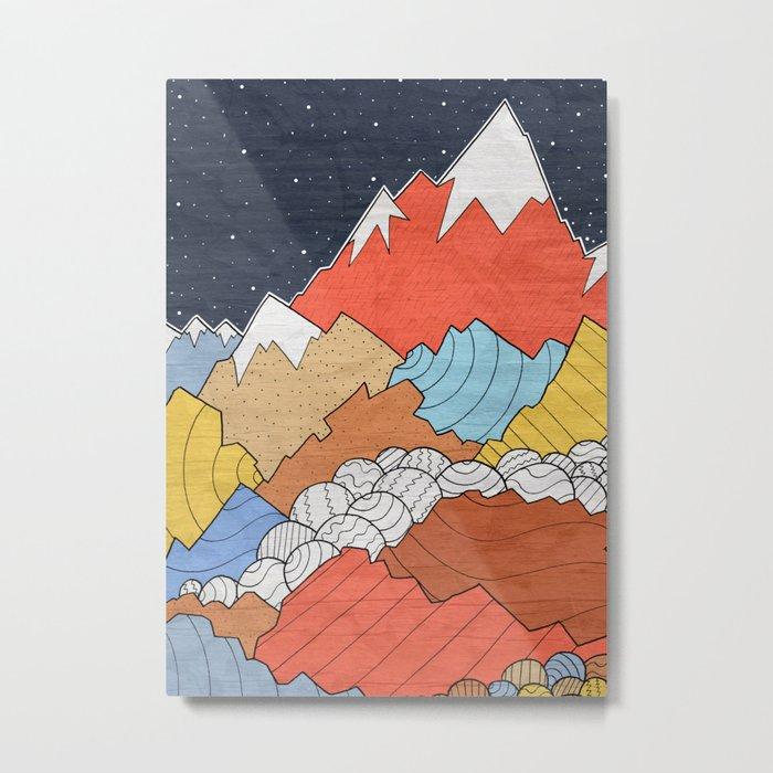 Rocky Mounts Metal Print