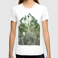 wolves T-shirts featuring Wolves by YM_Art by Yv✿n / aka Yanieck Mariani