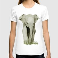 baby elephant T-shirts featuring Baby Elephant by Tanya Petruk