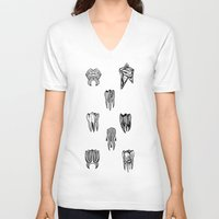 tooth V-neck T-shirts featuring Tooth 4 tooth by comma black