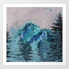 Mount Baker - Washington - Mountain Painting Art Print