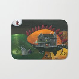 Hilly Haunted House Bath Mat
