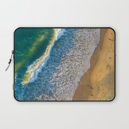 Waves on The California Coast Aerial Nature Photography Laptop Sleeve