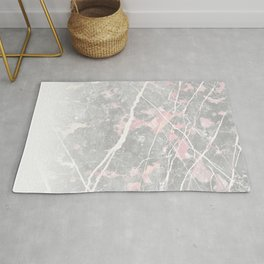 Pastel Pink & Grey Marble - Ombre Rug