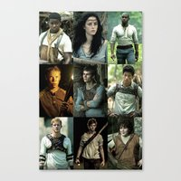 maze runner Canvas Prints featuring The Maze Runner Character's by TK Studios
