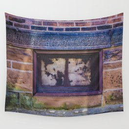 Basement Window from my street photography collection Wall Tapestry