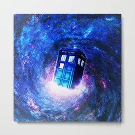 Tardis Doctor Who Vortex Metal Print