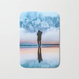 Blue Cloud Bath Mat