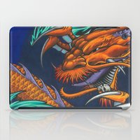 lakers iPad Cases featuring Purple & Gold Sado Dragon by SADOstyle