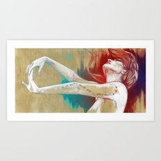 I won´t stay in this pain… (I´ll fly away) Art Print