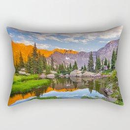 Mystic Island Lake Rectangular Pillow