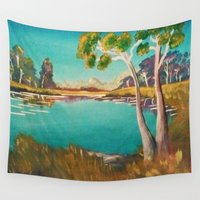 chill Wall Tapestries featuring Chill view1 by Colorsareeverything