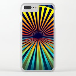 Sunset abstract 194 Clear iPhone Case