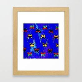 Bright Butterfly Pattern Print Framed Art Print