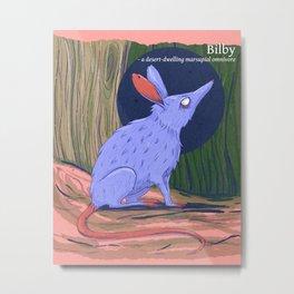 The bilby a rabbit-like marsupial Metal Print