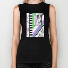 AMPS Deux - Abstract, Marble, Pastel, Stripes Biker Tank