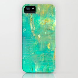 Planet Teal iPhone Case