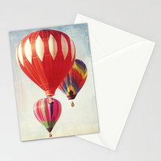 Hot Air Balloon Trio Stationery Cards