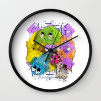 pacman Wall Clocks featuring Pacman by Jesús L. Yapor