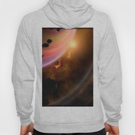 Stars planet asteroid Space 3D Graphics Planets Asteroids Hoody