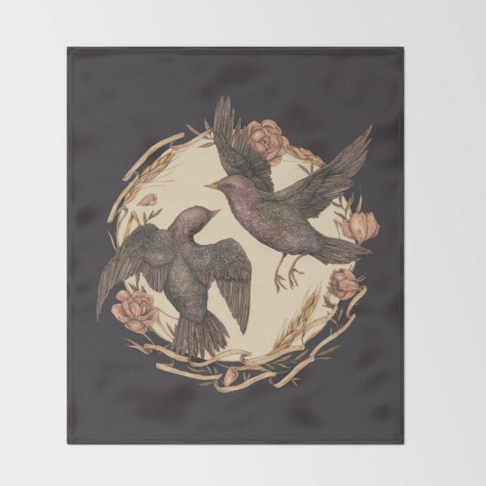 Starlings Throw Blanket