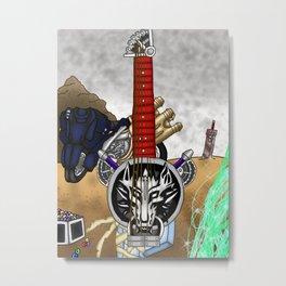 Fusion Keyblade Guitar #2 - Fenrir & Fusion Sword Metal Print