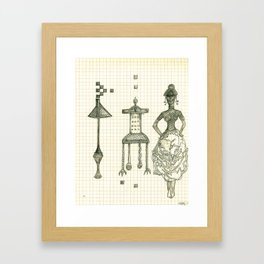 Lamp Chair Woman Framed Art Print