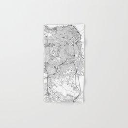 San Francisco White Map Hand & Bath Towel