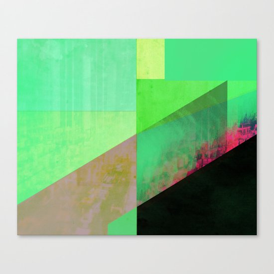 Green City Abstract Canvas Print