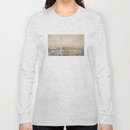 Vintage Pictorial Map of Washington DC (1852) Long Sleeve T-shirt