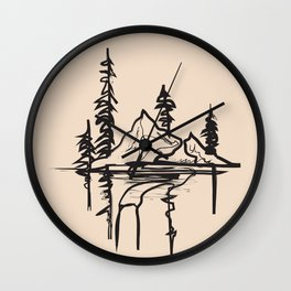 Abstract Landscpe II Wall Clock