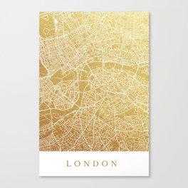 Gold London map Canvas Print