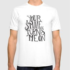 Your Smile Turns Me On Mens Fitted Tee White MEDIUM