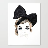 bows Canvas Prints featuring Bows by SoulDeep