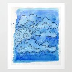 Baby Blue Dreamin Art Print