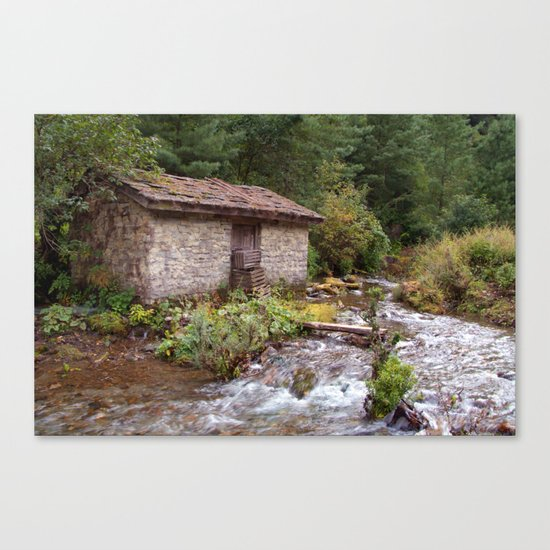 Stone Building by River near Chame Canvas Print