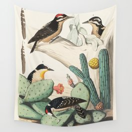Woodpeckers And Cacti Wall Tapestry